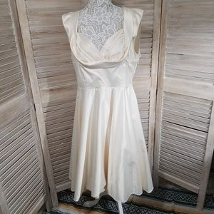 Retro Wedding Tea Length Engagement Dress